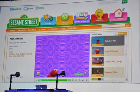 Na conferência, houve demonstração de personalização de conteúdos na televisão, a partir de Sesame St.