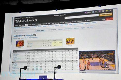 Jogo de basquete figura em uma tela secundária, enquanto o usuário navega pela tabela de resultados